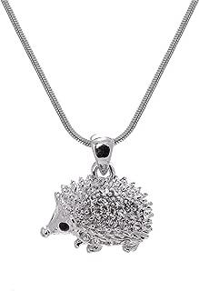 Crystal Sparkling Happy Hedgehog Necklace