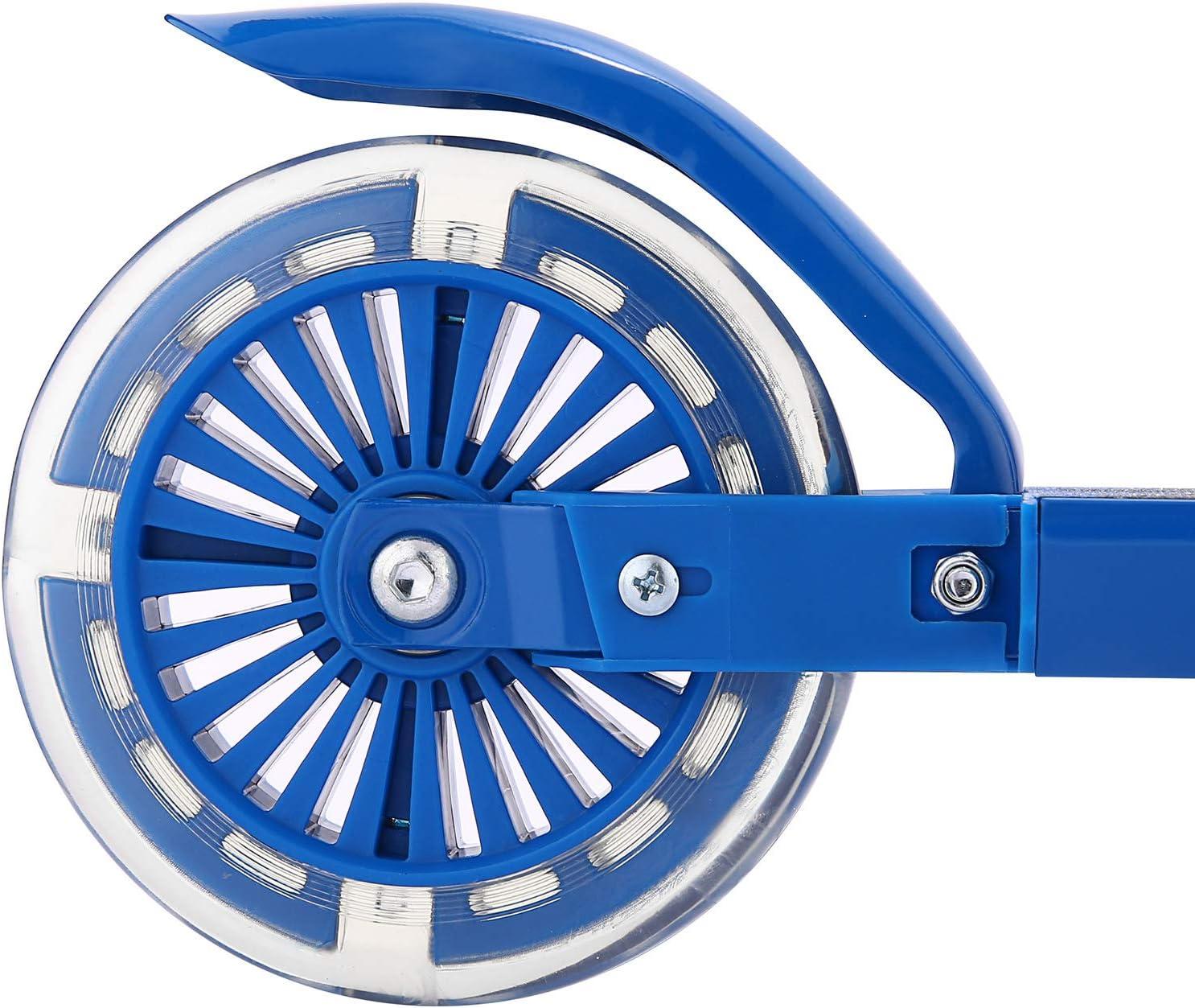 /à partir de 3 ans Pliable et r/églable en hauteur sur 3 niveaux Eloklem Trottinette pour enfant avec roues lumineuses LED