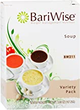 BariWise High Protein Low-Carb Diet Soup Mix – Low Calorie Variety Pack (7 Count)