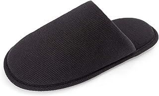 ofoot Tissu de Coton Biologique des Hommes est Confortable Fil Pantoufles, Lavables Flat Indoor/Outdoor Les Chaussures Enf...
