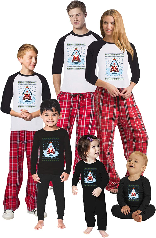 Awkward Styles Christmas Pajamas for Family Xmas Santa in Shark Matching Christmas Sleepwear Men PJ Set Style 5 L