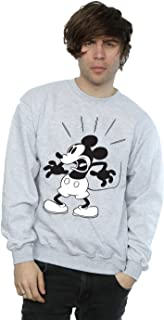 Disney Men's Mickey Mouse Scared Sweatshirt