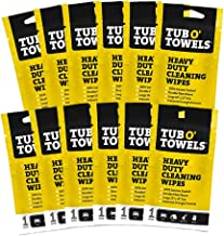 """Tub O Towels Heavy Duty 10"""" x 12"""" Multi-Surface Cleaning Wipes, On-The-Go 12-Pack"""