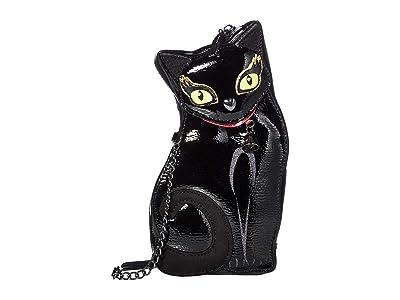 Betsey Johnson Clawsome Crossbody (Black) Cross Body Handbags