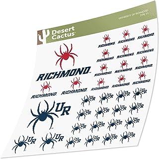 University of Richmond Sticker Vinyl Decal Laptop Water Bottle Car Scrapbook (Type 1 Sheet)