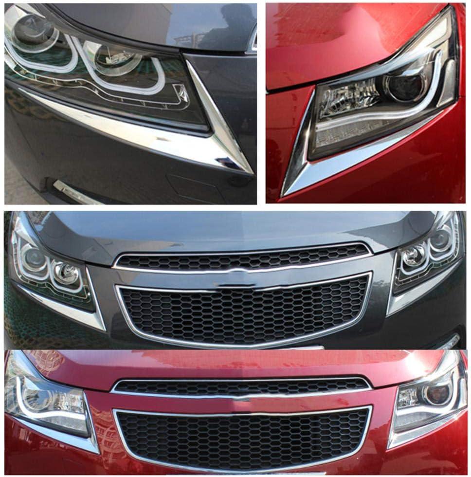 NUIOsdz Adesivo per Rivestimento Faro Lampada per Sopracciglia Decorazione per Strisce///Adesivi cromati per Chevrolet Cruze Berlina Hatchback