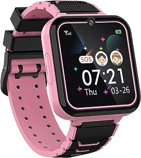 Smartklocka för barn pojkar flickor telefon - 1,54 tum HD pekskärm smartklocka med tvåvägssamtal SOS ficklampa spel musiks...