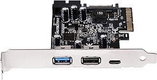 تقنية SilverStone بطاقة USB 3.1 و3.0 منفذ الملحقات الإضافية السريع مع نوع C الخارجي وموصل داخلي 19 دبوس ECU05 مكونات أخرى