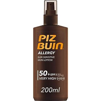 Piz Buin - Protector Solar, Allergy Spray SPF 50 Protección Muy Alta Spray Pack - 2 x 200 ml: Amazon.es: Belleza