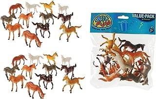 U.S. Toy 2 Dozen (24) Mini Plastic Horse Figures 2.5
