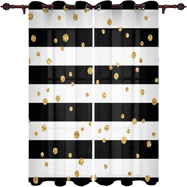 FAMILYDECOR Window Curtains Grommet Top Panel チープ 送料無料でお届けします Blac Curtain Pair