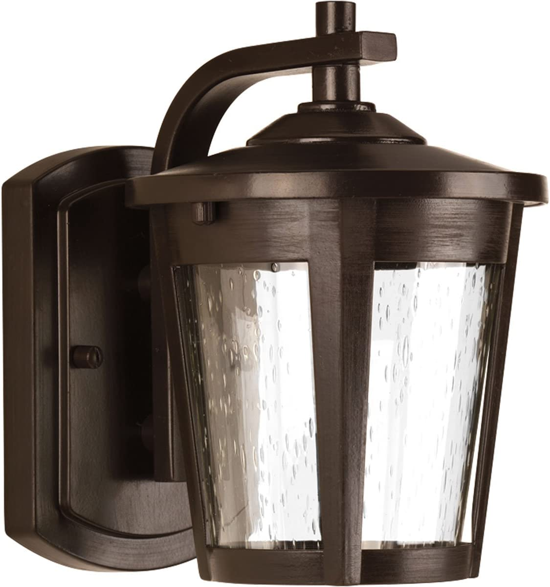Amazon Com Progress Lighting P6077 2030k9 Transitional One Light Wall Lantern From East Haven Led Collection Dark Finish Antique Bronze Home Improvement