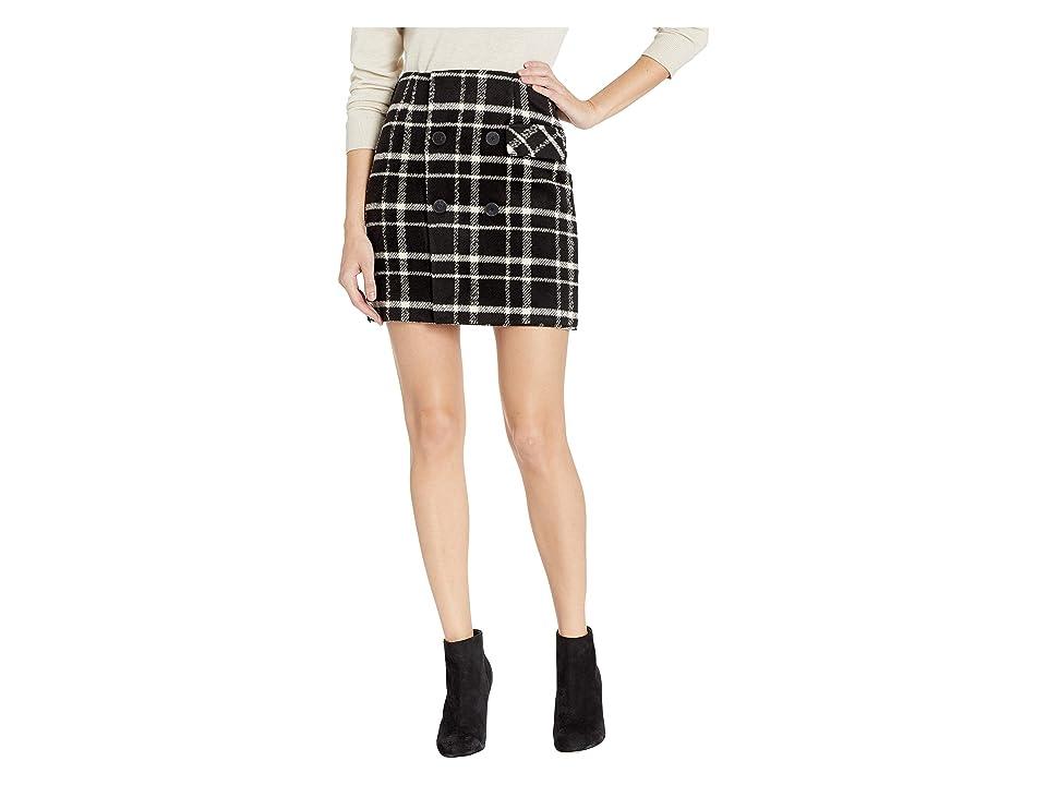 ROMEO & JULIET COUTURE Plaid Mini Skirt (Black Combo) Women