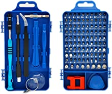 Rimposky 110 in 1 Screwdriver Set,Professional Multi-function Screwdriver Magnetic Repair Tool Kit Compatible with Cell Phone,iPhone,iPad,Watch,PC,Laptop and more.(Blue)