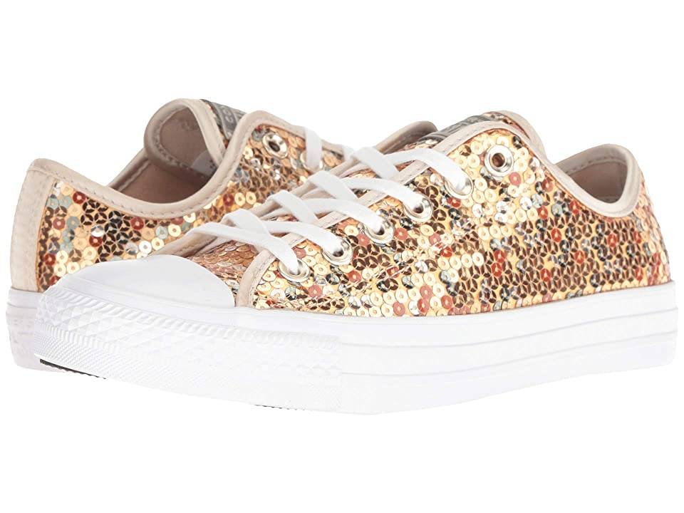Converse Chuck Taylor All Star Sequined Ox (Gold/Light Gold/White) Women
