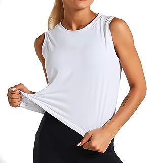 Dragon Fit Women Sleeveless Yoga Tops Workout Cool T-Shirt Running Short Tank Crop Tops