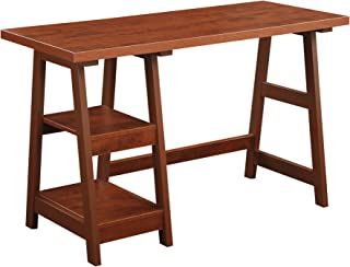 Convenience Concepts Designs2Go Trestle Desk, Cherry