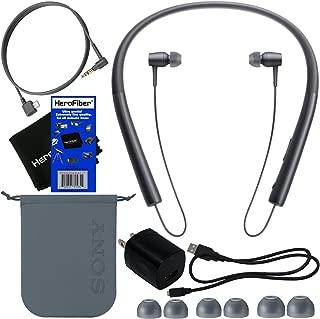 Sony H。EAR in Wireless Bluetoothインイヤヘッドフォン、ブラック(mdrex750bt / B) +ヘッドフォンケーブル、USBケーブルW/充電器壁アダプタ+ 4サイズイヤホン+キャリーポーチ+ HeroFiber Ultra Gentleクリーニングクロス