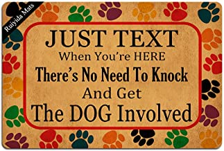 Just Text Us When You're Here No Need to Knock and Get The Dogs Involved Entrance Floor Mat Funny Doormat Door Mat Decorat...