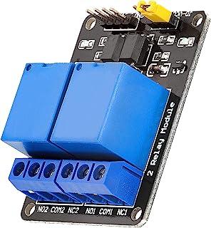 AZDelivery Modulo Relay 5V a 2 canali 5V con optoaccoppiatore Low-Level-Trigger compatibile con Arduino incluso un Ebook!