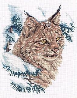 RTO Lynx zestaw do haftu krzyżykowego 9 x 11,5 cala 14 liczby, akryl, wielobarwny, 20,95 x 27,94 x 0,63 cm