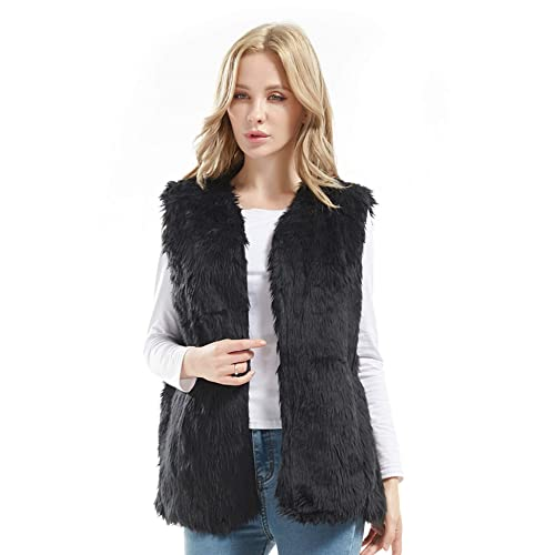 3f82d87799560 Bellivera Lady Faux Fur Vest Warm Sleeveless Outwear for Spring