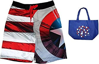 Best captain america mens bathing suit Reviews