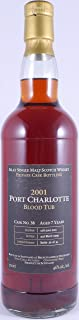 Bruichladdich 2001 Port Charlotte Blood Tub 7 Years Limited Release Private Cask No. 38 Islay Single Malt Scotch Whisky 46,0% Vol. - eine von nur 41 Flaschen eines erstklassigen Islay Single Malt!