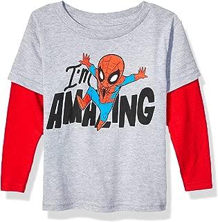 Boys' Toddler Amazing Spider-Man Avengers Long Sleeve Doubler T-Shirt