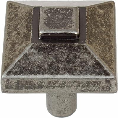 Hammered Dark Antique Brass Hickory P7526-WDA Mission Rectangular Cabinet Knob