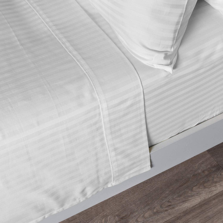 Homescapes Damast Bettlaken Betttuch Haustuch 230 230 230 x 255 cm 100% reine ägyptische Baumwolle Fadenzahl 330 weiß B006O7T7IE 5cd1f0