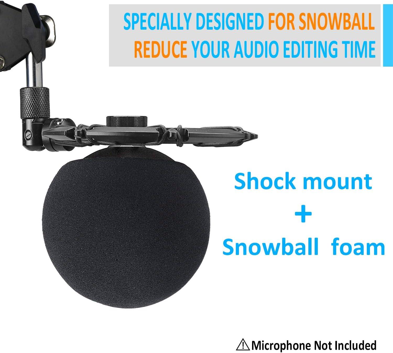 Shock Mount Reduce el Ruido de Vibraci/ón y Mejora la Calidad de Grabaci/ón por YOUSHARES Blue Micr/ófono Snowball ICE Montura de Choque
