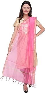 Dupatta Bazaar Indian Plain Baby Pink Silk Dupatta ,Stole, Scarf, Chunni for Woman