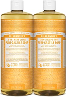 Dr. Bronner's - Pure-Castile Liquid Soap (Citrus, 32 Ounce, 2-Pack)