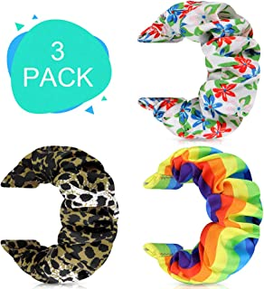 AordKing Scrunchie Watch Band 20mm,3 Packs Compatible Fancy Classic Print Replacement Wristbands for Galaxy Watch Active/G...