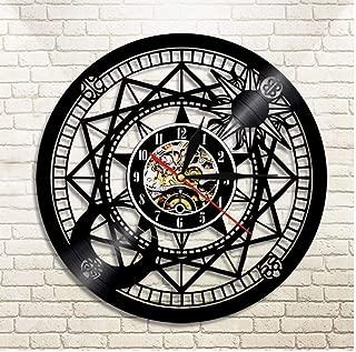 LoveBestYou Jupiter Wall Clock Vinyl Home Decor Sun and Moon Retro Star Vinyl Record Clock Cosmographic Clock Astrology Gifts Diameter: 30Cm