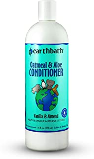 earthbath Oatmeal & Aloe Conditioner, Vanilla & Almond, 16 oz – Dog Conditioner for Allergies & Itching, Dry Skin – Made i...