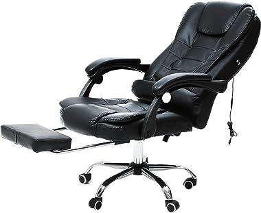 CO-Z Chaise Confortable de Bureau de Massage, Fautueil de Bureau en Similicuir avec Accoudoirs Réglable, Siège d'Ordinateur a