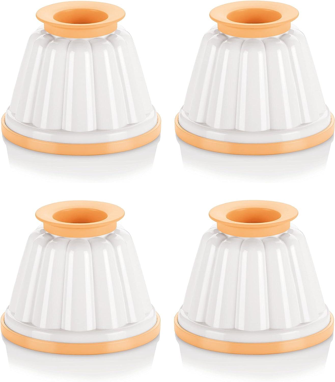 Tescoma 630590 Juego de 4 flaneras onduladas, De plástico, Color Blanco, Amarillo