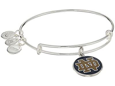 Alex and Ani Color Infusion University of Notre Dame Logo II Bangle (Shiny Silver) Bracelet