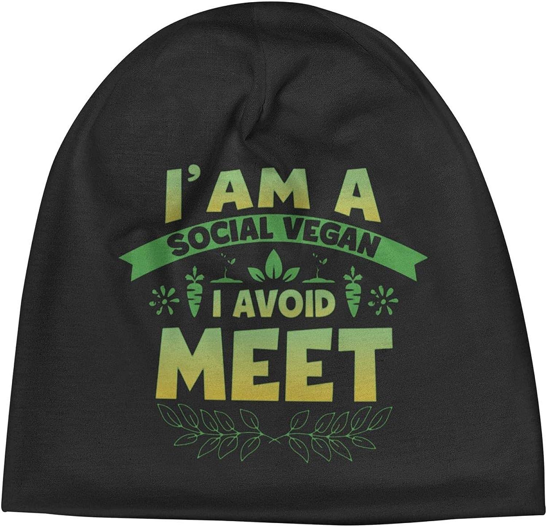 Social Vegan I Avoid Meet5 Slogan Vi Popularity All items in the store Beanie Cap Warm Unisex Hats