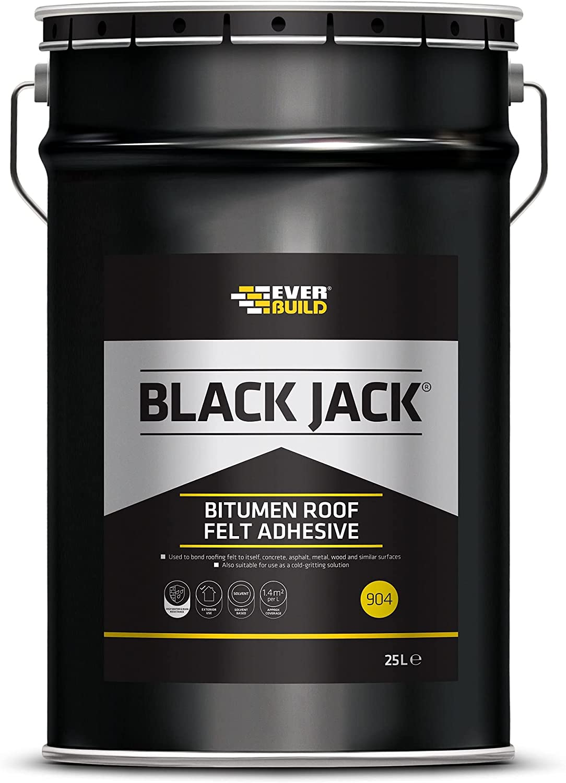 Everbuild Black Soldering Jack 904 Washington Mall Roof Litre Felt Adhesive 25