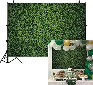 Allenjoy 7x5ft Green Leaves Wall Backdrop for Photography Grass Floordrop Pictures Background Spring Birthday Party Ground Decor Outdoorsy Theme Newborn Baby Bridal Shower Wedding Photo Studio Booth