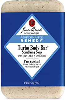 Jack Black - Turbo Body Bar Scrubbing Soap, 6 oz - Men's Soap with Blue Lotus and Lava Rock, Moisturizing Murumuru and She...