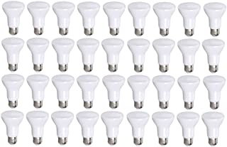 36 Pack Bioluz LED Br20 LED Bulb Dimmable 7w (50w Replacement) 2700K Bright Warm White 550 Lumen Smooth Dimmable Lamp - Indoor/Outdoor UL Listed (Pack of 36)