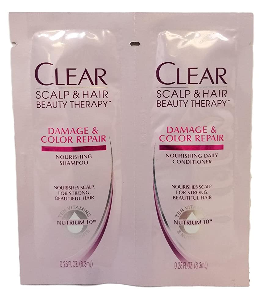 Clear Moisturizing shampoo and conditioner daily single use packets, travel size, TSA approved, (Ten Vitamins and Nutrients) (24, Clear Beauty products)
