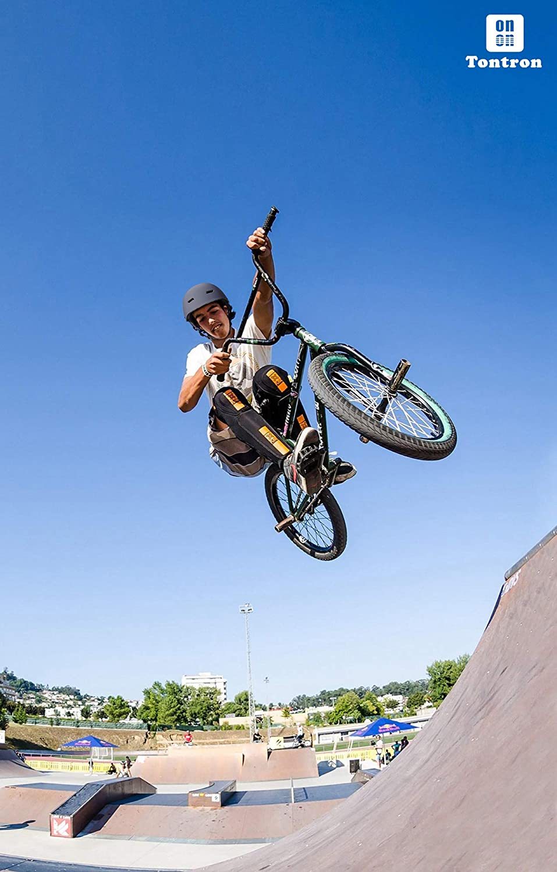 Tontron Skate//Bike//BMX Helmet with Magnetic Buckle