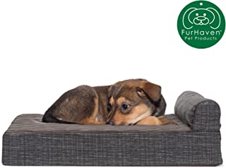 Furhaven Pet Dog Bed   Orthopedic Chaise Lounge & Goliath Sofa-Style Living Room Couch Pet Bed w/ Removable Cover for Dogs & Cats - Available in Multiple Colors & Styles