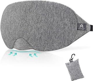 Mavogel アイマスク ノーズワイヤー付 遮光 安眠 圧迫感なし 柔らかい素材 自由調整可能 旅行 収納袋付(グレー)