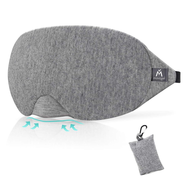 永続から十分ではないMavogel アイマスク ノーズワイヤー付 遮光 安眠 圧迫感なし 柔らかい素材 自由調整可能 旅行 収納袋付(グレー)